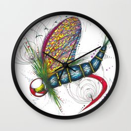 Mayfly Madness Wall Clock