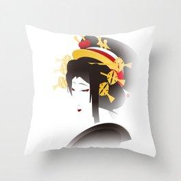 Jakuemon - a Kabuki Portrait Throw Pillow