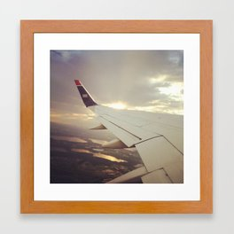 Wing of Airplane Framed Art Print