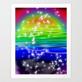 """Rainbow River"" For Iphone Art Print"