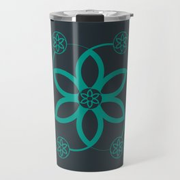 Evolution | Alien crop circle | Sacred geometry Travel Mug