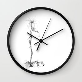 Turnerus Tinaus in Bloom (part of the Strange Plants series) Wall Clock
