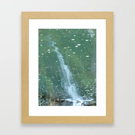 """Waterfall Reflections"" Framed Art Print"