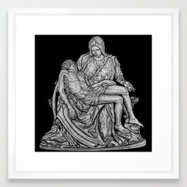 Pieta - from my hand etching Framed Art Print