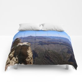 Duck On A Rock - A Scenic Grand Canyon View Comforters