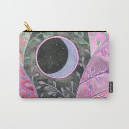 Moon in Purple Bramble Carry-All Pouch