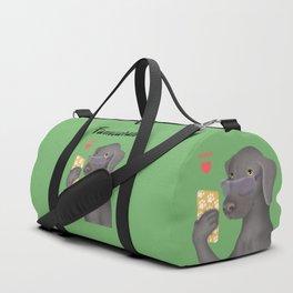Famearaner (Green Background) Duffle Bag