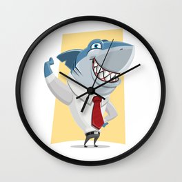 Well Dressed Shark Artwork Wall Clock
