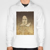 shakespeare Hoodies featuring William Shakespeare by Vi Sion