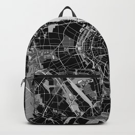 Cologne map black and white Backpack
