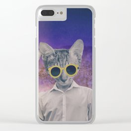 the cool cats Clear iPhone Case