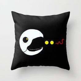 Retro Byrd Pacman Throw Pillow