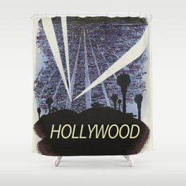 Hollywood Glamour vintage poster Shower Curtain