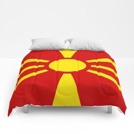 Flag of Macedonia - authentic (High Quality image) Comforters