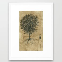 Artificial tree N.04 Framed Art Print