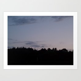 Sunset in New England Art Print