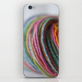 Multicolored Handspun Yarn iPhone Skin