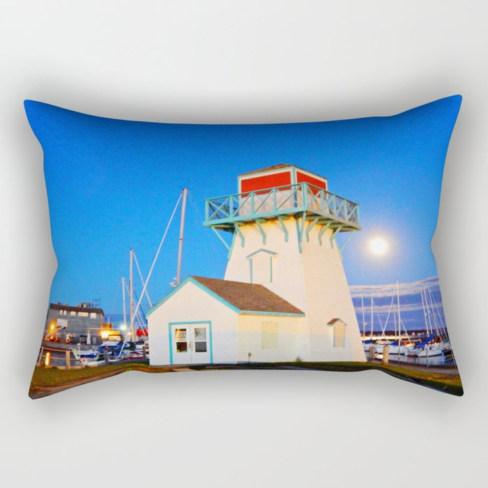 Summerside Harbour lighthouse Rectangular Pillow