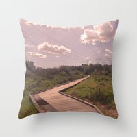 boardwalk empire Throw Pillows featuring Boardwalk by Graham Thornton