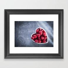 Raspberries for a Healthy Heart Framed Art Print