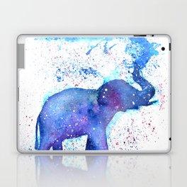 Silhouette Elephant Watercolor Laptop & iPad Skin