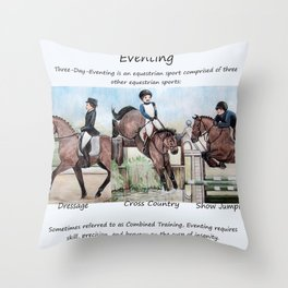 Three Day Eventing: Sport of the Brave Throw Pillow