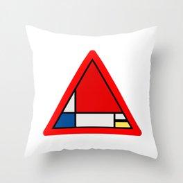 Mondrian Road Sign Throw Pillow