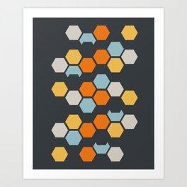 Sam (Gray Blue) Art Print