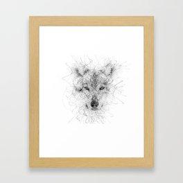 WolF Line Framed Art Print
