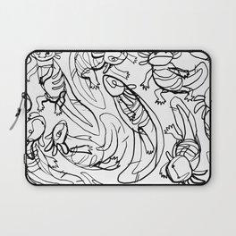 Scribbled Axolotls Laptop Sleeve