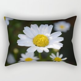 White Daisy Flowers - close up (macro) Rectangular Pillow