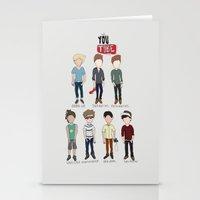 youtube Stationery Cards featuring Youtube Boys  by Natasha Ramon