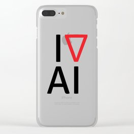 I love artificial intelligence Clear iPhone Case
