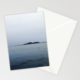 Lonely island in cloudy Brittany Stationery Cards