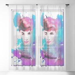 Audrey Hepburn Sheer Curtain