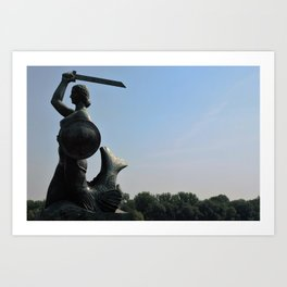 The Mermaid of Warsaw Art Print