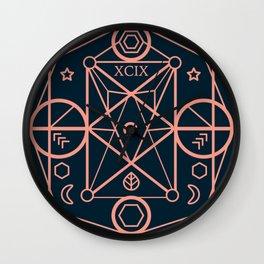 illustration of sacred geometry Wall Clock