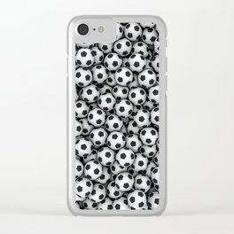 Soccer balls Clear iPhone Case