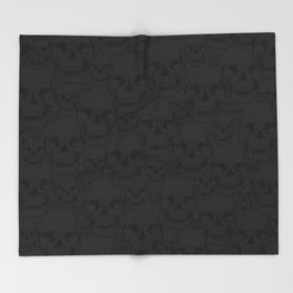 Dark Skulls Throw Blanket