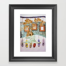 Time Takes No One's Side Framed Art Print
