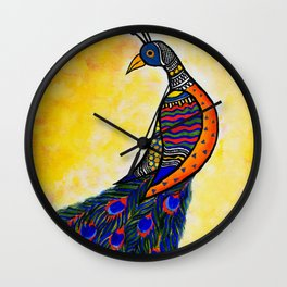 Colours in my wing Wall Clock