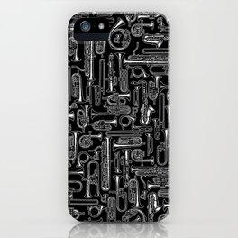 Horns B&W iPhone Case