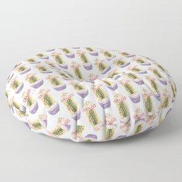 Papercraft Cactus in Orange Floor Pillow