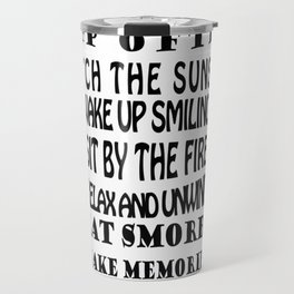 camping rules drink a cold one visit with friends be gratefull Travel Mug