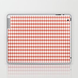 Pantone Living Coral Rippled Diamonds, Harlequin, Classic Rhombus Pattern Laptop & iPad Skin