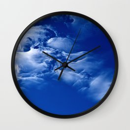 Dark blue sky Wall Clock