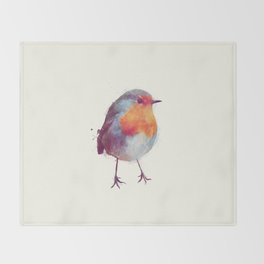 Winter Robin Throw Blanket
