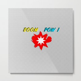 Boom Pow Superhero Splash Metal Print