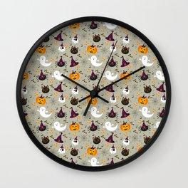 Halloween Twist - Light Grey Wall Clock
