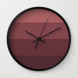 Minimal Retro Sunset / Sunrise - Ruby Wall Clock